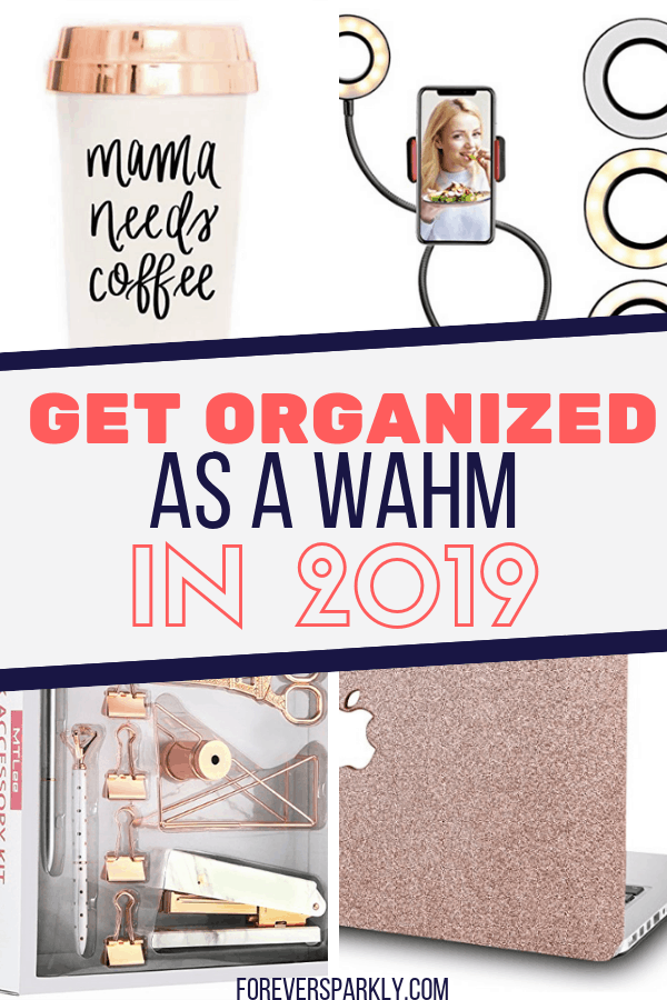 Wondering how to get organized in 2019 as a work at home mom? Click to read about the products you need to make your home based business a success in 2019. #wahm #businessorganization #directsales #bloggers