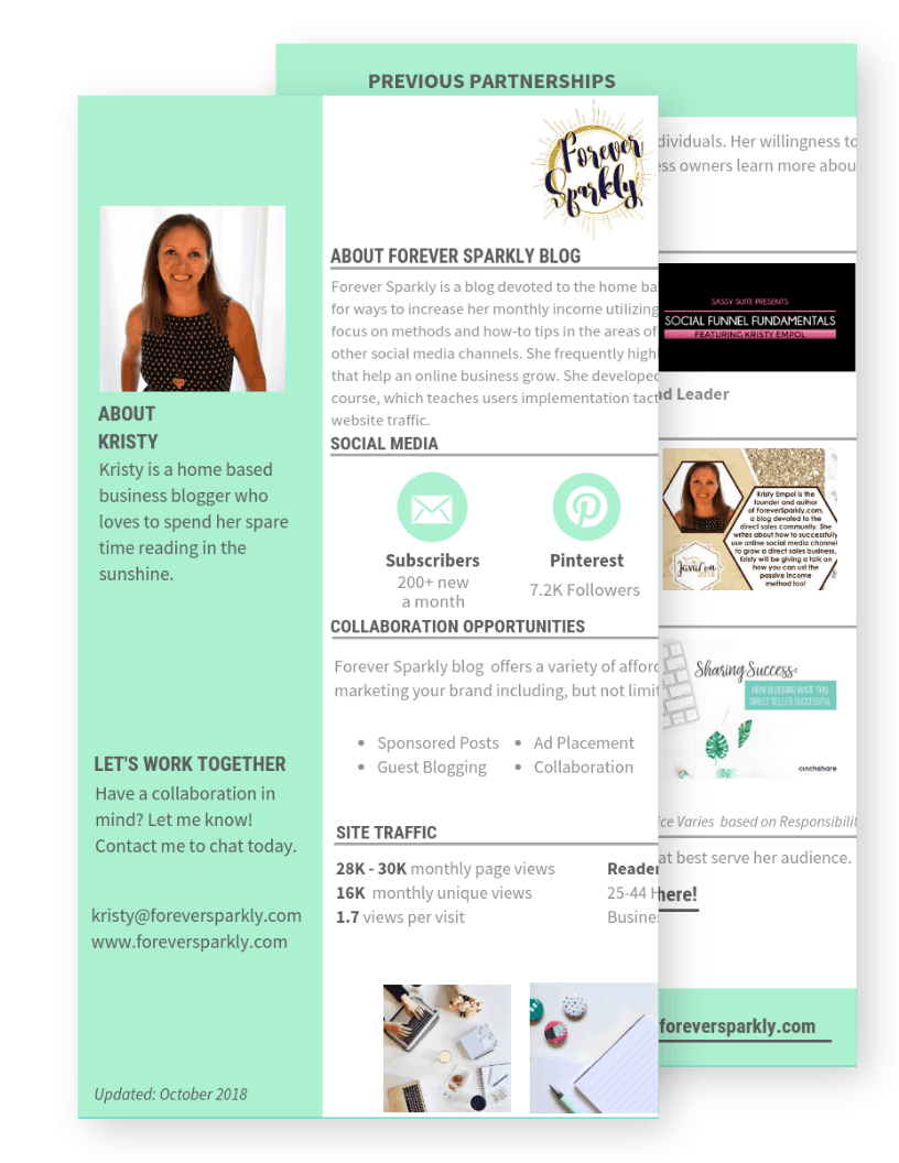 Kristy Empol Media Kit