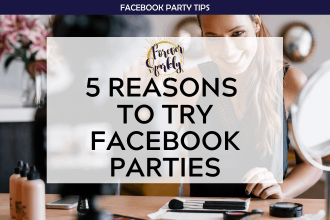 Check out these 5 reasons to try Facebook parties for your direct sales business. Grow your business at home using Facebook.