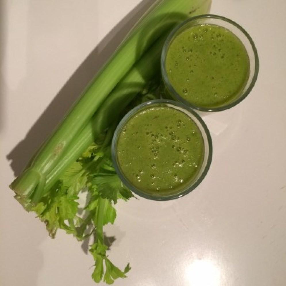 Grüne Smoothies mit Sellerie