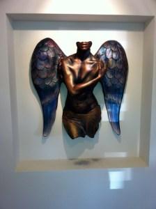 Angel in an entranceway