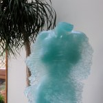 glass sculpture through a veil