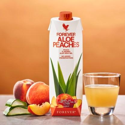 Forever Tripack Aloe Peaches (Χυμός αλόης βέρα με ροδάκινο, σε συσκευασία τριών τεμαχίων)