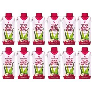 Forever Aloe Berry Nectar Mini (Χυμός αλόης βέρα με cranberry και μήλο. 12 τεμάχια των 330 ml)