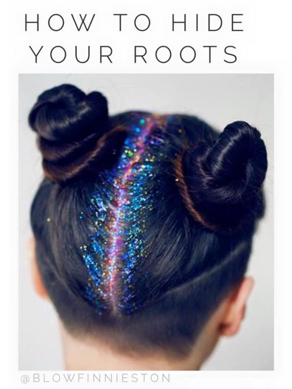 Blow glitter roots