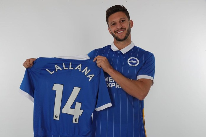 Adam Lallana joined Brighton on a free transfer from Liverpool