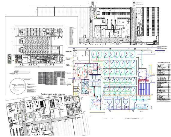 AutoCAD layouts and technical designs