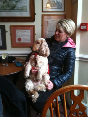 Lord Nelson pub, Southwold, Nelson the dog