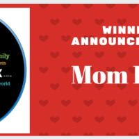 Winner Announcement- Mom blog