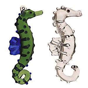 Handmade glass seahorse