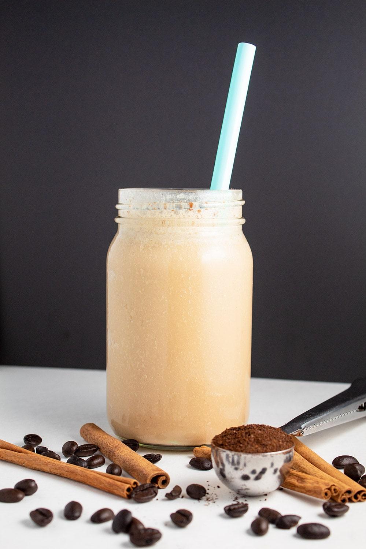 Keto Iced Vanilla Cinnamon Coffee
