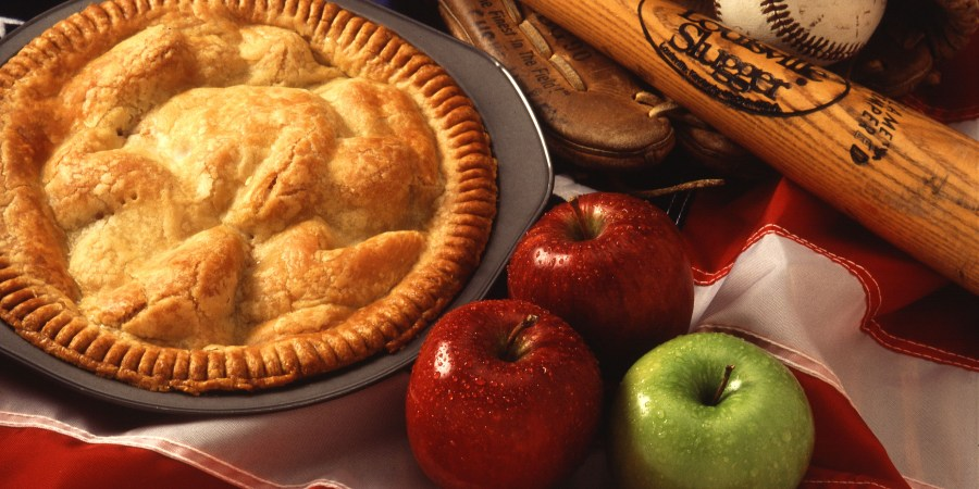 American cultural icons - apple pie and baseball