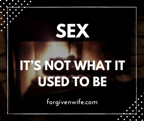 Sex was transformed into something completely different.