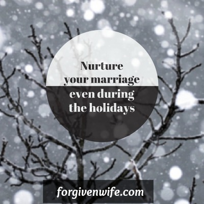 Prepare for the holidays in a way that helps the intimacy in your marriage be nurtured rather than blown away.