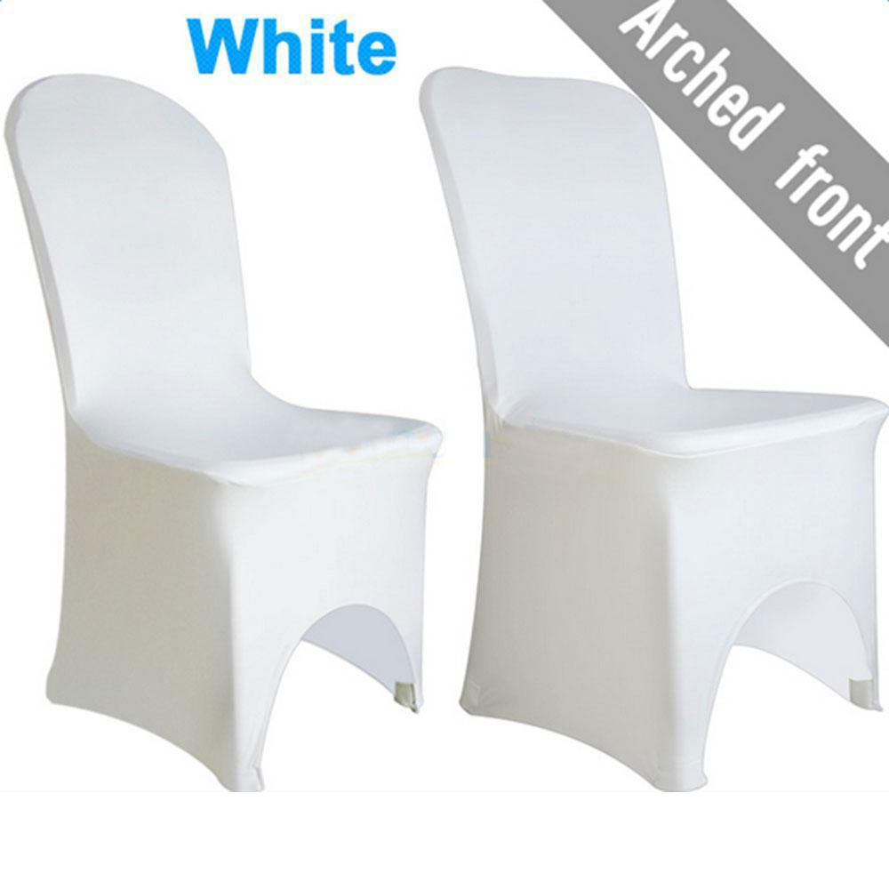 black spandex chair covers amazon dining set of 4 1/50/100pcs lycra cover coevers banquet wedding party white/black | ebay