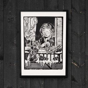 """Pigeon Girl"" Art Print"