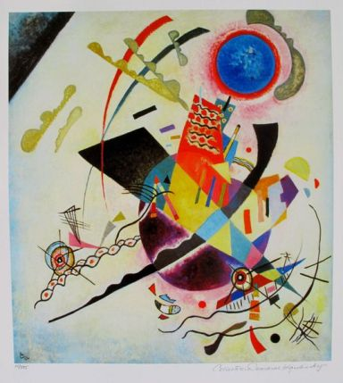 Wassily Kandinsky BLUE CIRCLE Estate Signed Limited Edition Giclee