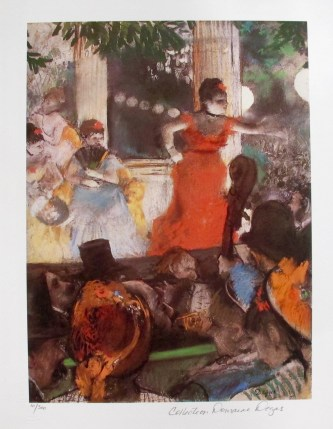 EDGAR DEGAS CAFE CONCERT Estate Signed Limited Edition Giclee