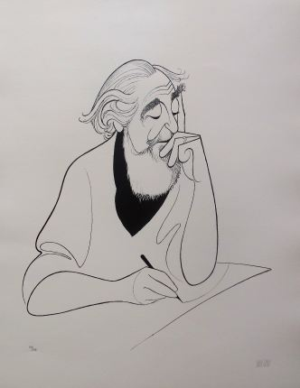 "AL HIRSCHFELD ""SELF PORTRAIT AT 98"" Hand Signed Limited Edition Lithograph"