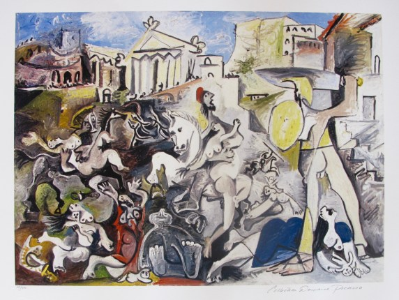 THE RAPE OF THE SABINE WOMEN Pablo Picasso Estate Signed Giclee