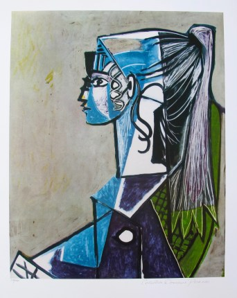 #10 PORTRAIT OF SYLVETTE DAVID Pablo Picasso Estate Signed Giclee