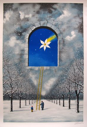 """RAFAL OLBINSKI """"MAGICAL TRANSPARENCY OF TIME"""" Hand Signed Limited Edition Serigraph"""