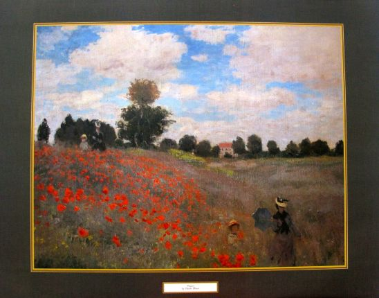 Claude Monet POPPIES Lithograph