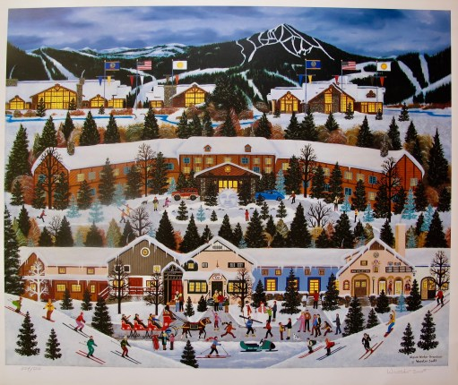 Jane Wooster Scott ALPINE WINTER GRANDEUR Hand Signed Limited Edition Lithograph