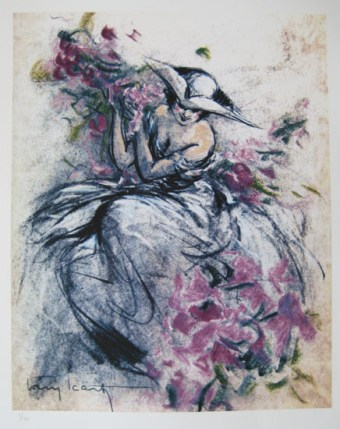 Louis Icart LAVENDER LADY Limited Edition Giclee