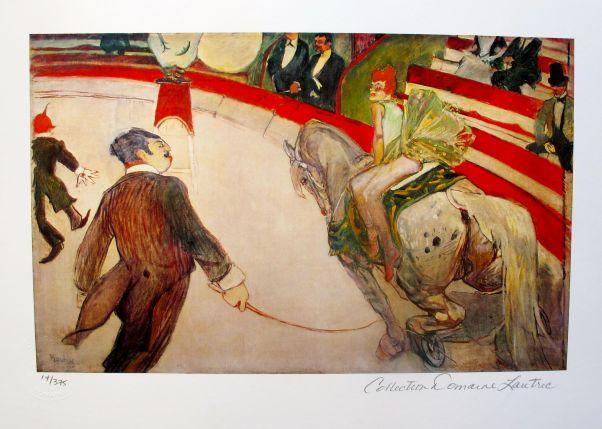 Henri Toulouse Lautrec LE CIRQUE FERNANDO Estate Signed Giclee CIRCUS HORSE