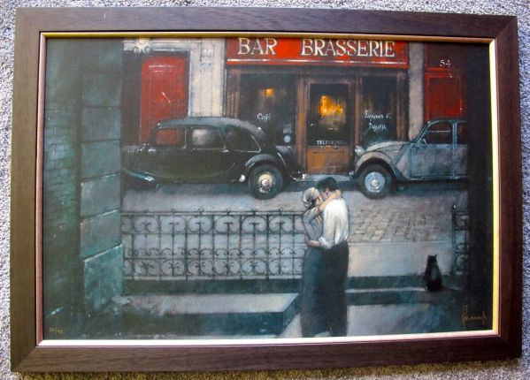 PAUL KAVANAGH LINGERING EMBRACE Hand Signed Framed Canvas Giclee on Board