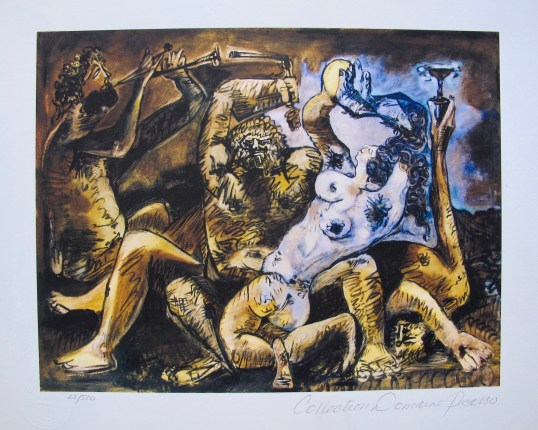 Pablo Picasso BACCHANAL Estate Signed Limited Edition Giclee