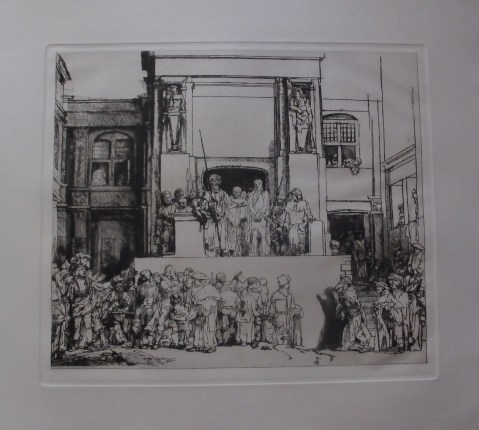 "REMBRANDT ""CHRIST PRESENTED TO THE PEOPLE"" Amand Durand Etching"