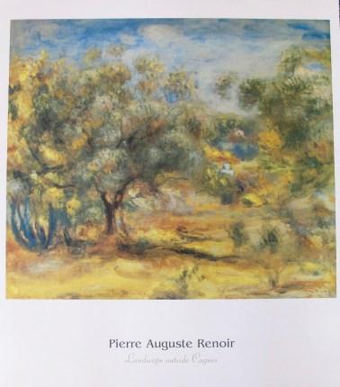 Pierre Auguste Renoir LANDSCAPE OUTSIDE CAGNES Plate Signed Lithograph