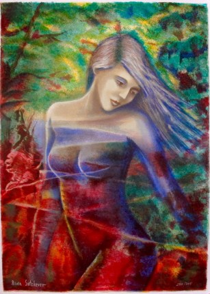 Rina Sutzkever CAPTIVATING BEAUTY Hand Signed Limited Edition Serigraph