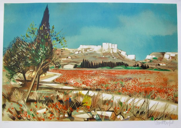 Robert Vernet Bonfort POPPIES Hand Signed Limited Edition Lithograph FRANCE
