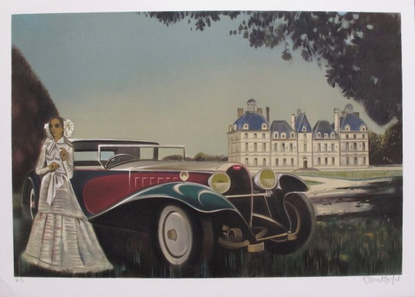 Robert Vernet Bonfort CHATEAU Hand Signed Limited Edition Lithograph FRANCE