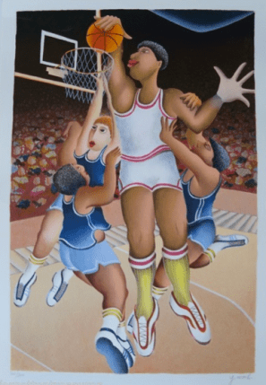 Yuval Mahler BASKETBALL Hand Signed Limited Edition Serigraph