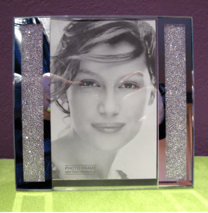 "Swarovski Crystal Filled Picture Frame for 4"" x 6"" Photo Size"