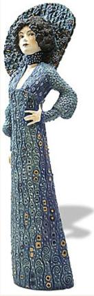 Gustav Klimt EMILIE FLOGE PORTRAIT Sculpture Figure