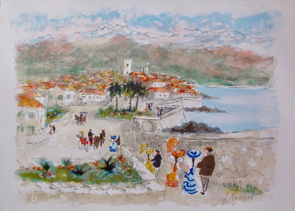 Urbain Huchet ANTIBES Limited Edition Hand Signed Lithograph