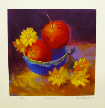 "NEL WHATMORE ""BLUE BOWL"" Hand Signed Limited Edition Lithograph"