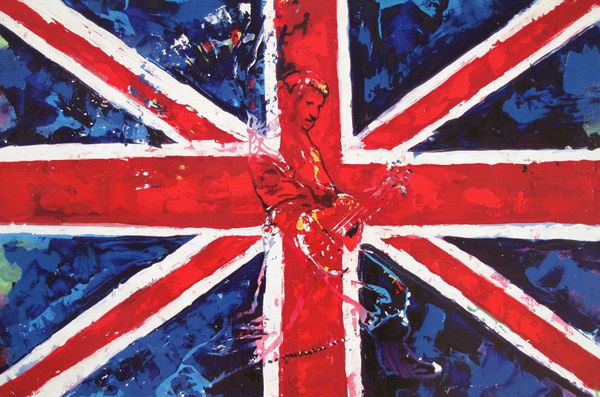 Kat BRITISH ROCK STAR Rock n' Roll Pop Art Giclee on Canvas