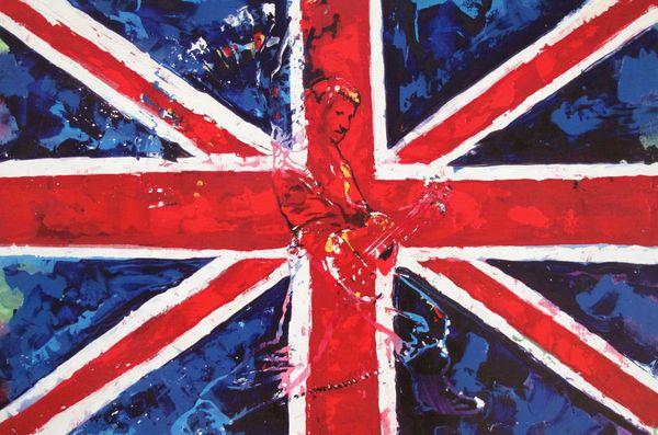 Kat BRITISH ROCK STAR Rock n' Roll Pop Art Giclee on Canvas