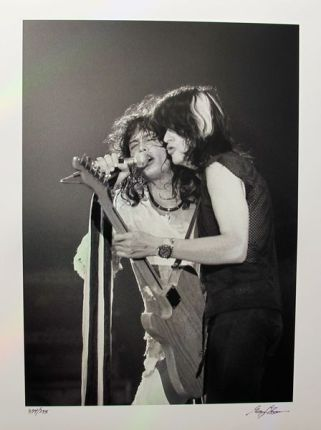AEROSMITH Hand Signed Limited Edition Photograph by GREGG COBARR
