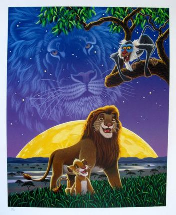 Disney LION KING Limited Edition Serigraph by William Schimmel