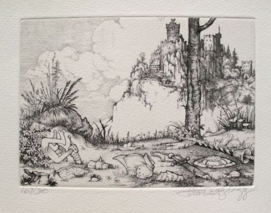 "Charles Bragg ""THE CAPTURE"" from CAMELOT SERIES Hand Signed Limited Ed. Etching"