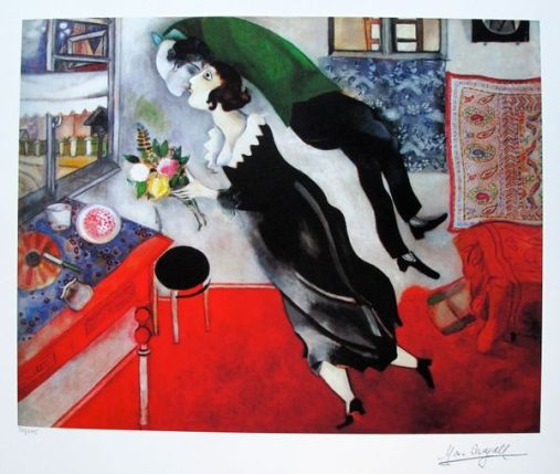 Marc Chagall BIRTHDAY Limited Edition Facsimile Signed Small Giclee