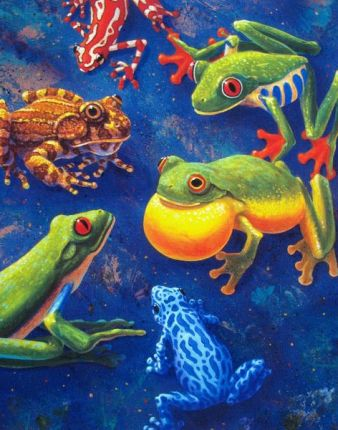 Charles Lynn Bragg 6 FROGS Hand Signed Limited Ed. Giclee