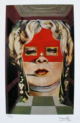 Salvador Dali MAE WEST'S FACE Facsimile Signed & Numbered Giclee